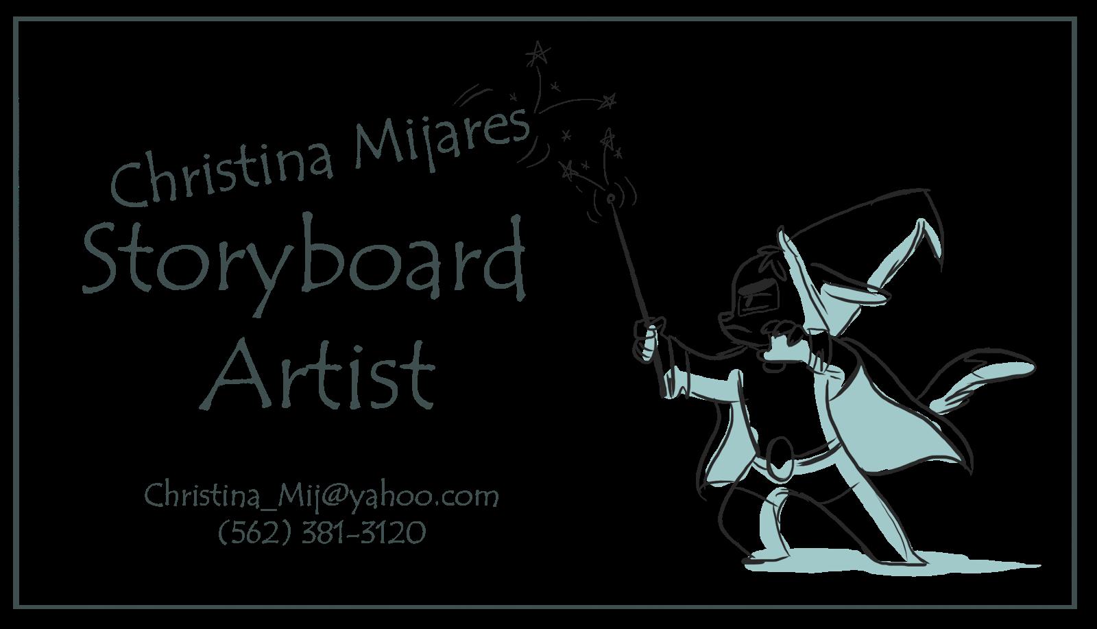 Christina Mijares' Storyboard Portfolio