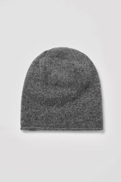 grey cashmere hat