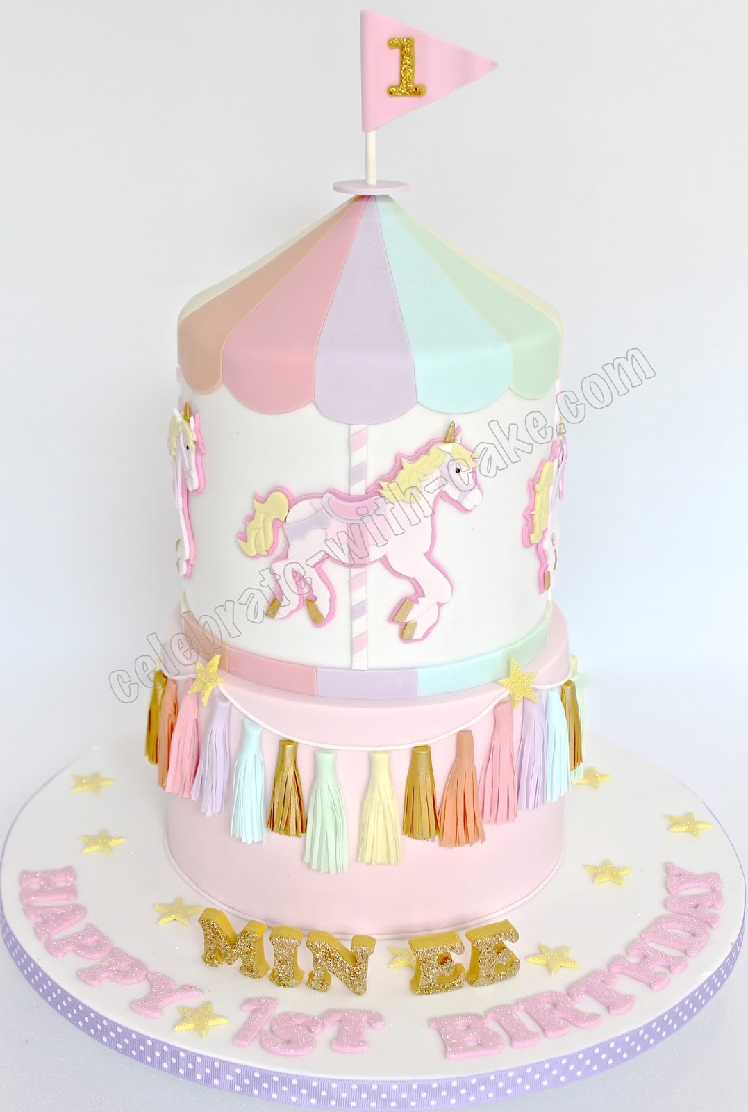 Celebrate With Cake Carousel And Tassel 2 Tiers