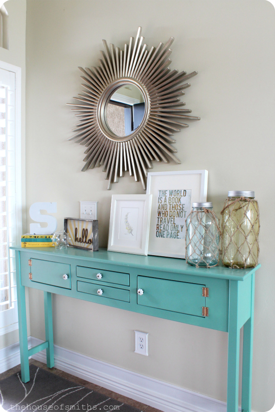 Entryway table decor for Entry wall table
