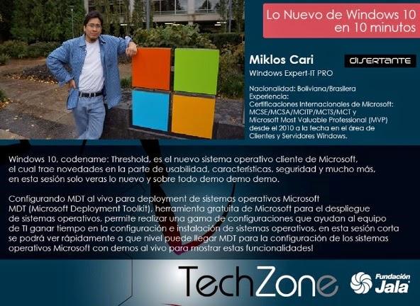 Disertante Miklos en TechZone