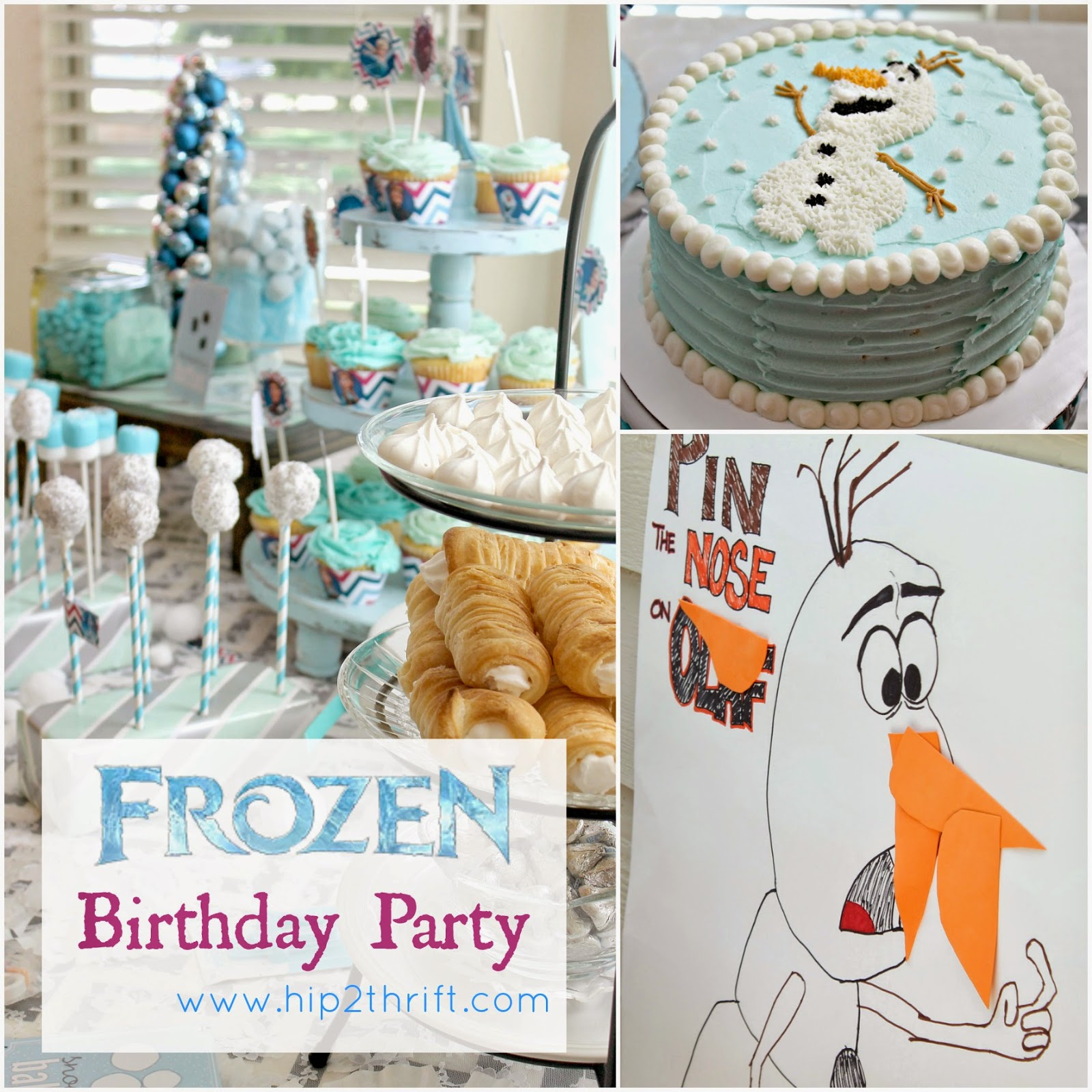 hip2thrift: disney frozen birthday party