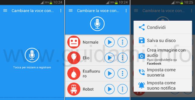 Cambiare la voce con effetti (Baviux) app Android