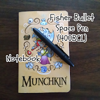 Dedicated notebook and pen