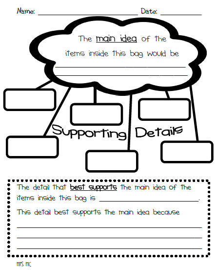 Hilaire image pertaining to main idea graphic organizer printable