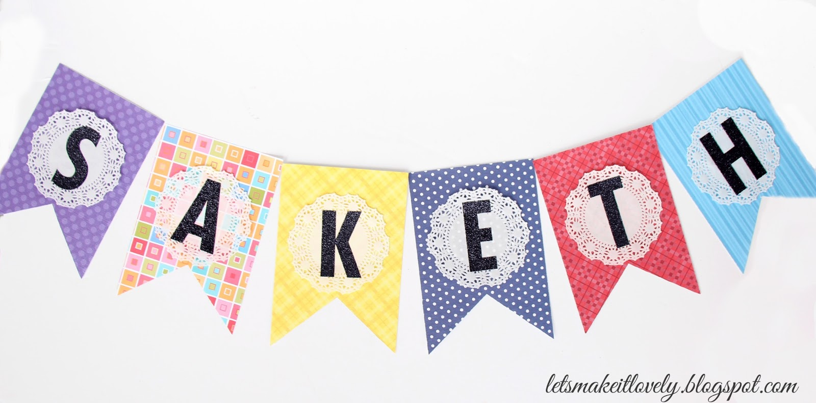 let s make it lovely diy colorful bunting birthday banner