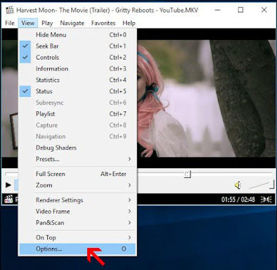 Mengatur Posisi Video pada Media Player Classic | andromin