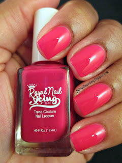 Royal Nail Icing, Strawberry Lava, fuschia, pink, crelly, nail polish, indie, indie brand