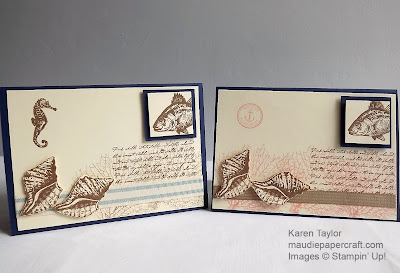 Stampin ' Up! By the Tide cards