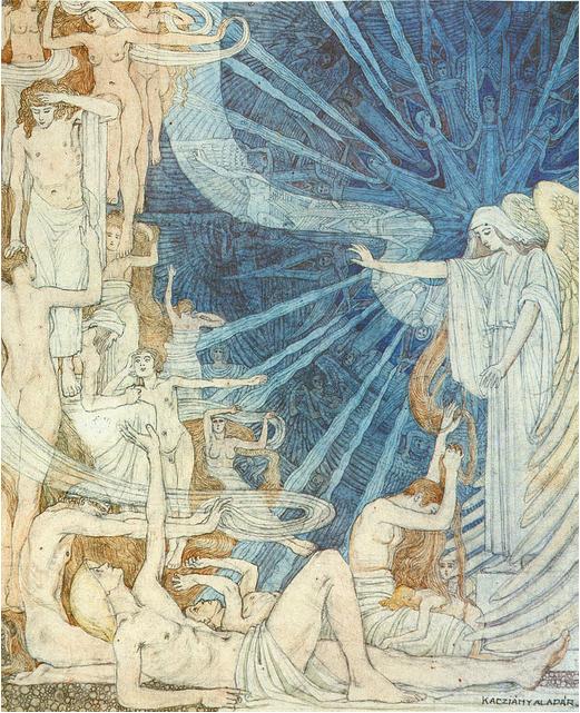 Aladár Kacziány composition symbolique