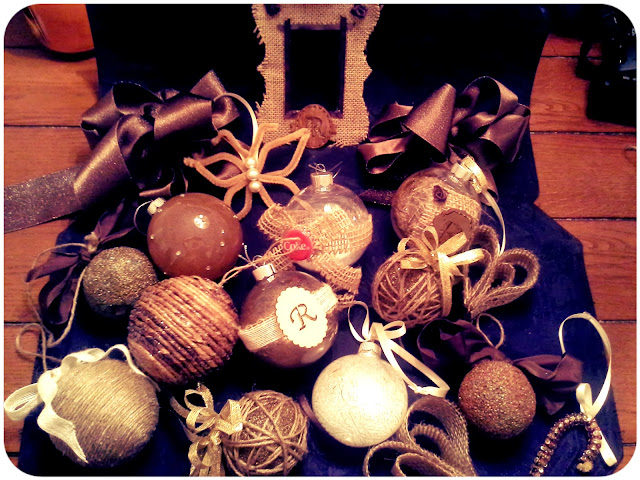 Pinterest-Inspired Rustic Christmas Ornaments - A Fun DIY Night