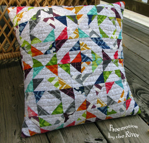 Modern Half Square Pillow at Freemotion by the River