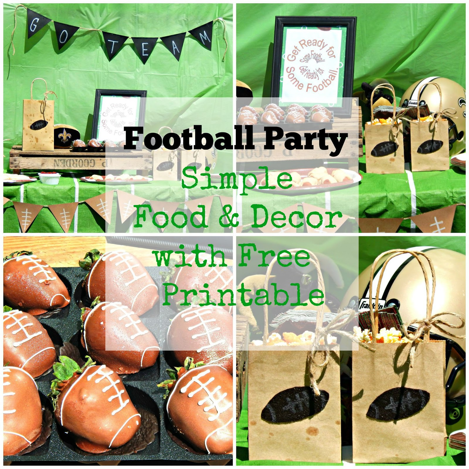 Football Party - Simple Food & Decor with Free Printable - This Ole Mom