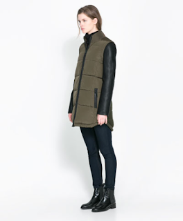 Need this mixed media coat from Zara, $139.