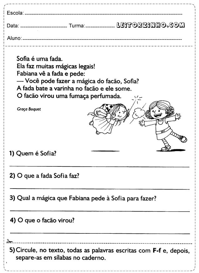 Well-known Leitores: Atividades de Português 1° ano ensino fundamental KG19