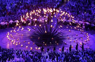 Momentos de la ceremonia inaugural de los Juegos Olímpicos
