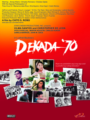 reaction on the movie dekada 70 Dekada 70 movie review  this entry was tagged bill of rights, dekada 70 buod, dekada 70 movie, dekada 70 movie review, dekada 70 nobela,.