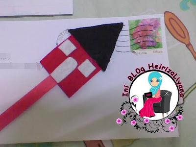 hadiah dari blogger, bookmark comel, bookmark.cara buat bookmark, boomark dari kain felt