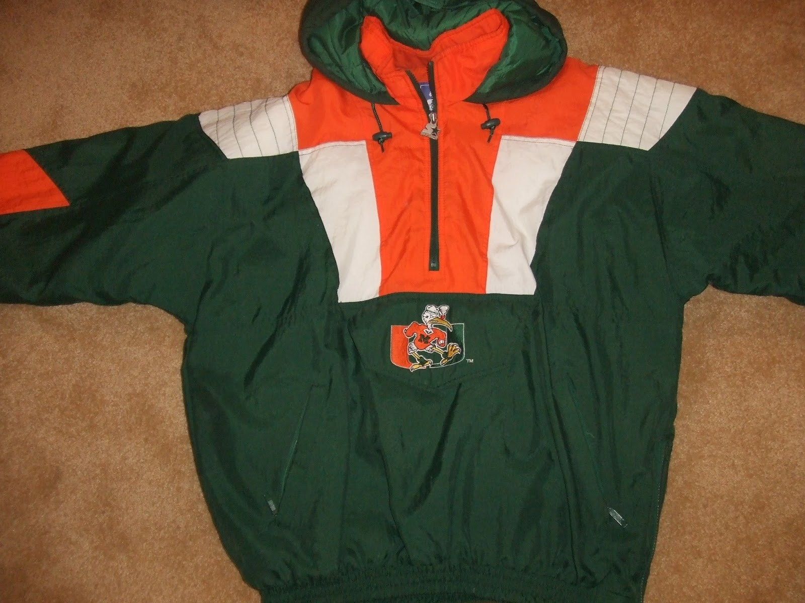 Vintage Miami Hurricanes Starter Jacket together with 79645636 furthermore ment Page 1 likewise 11 Spectacular Ex les Modern Garage Lighting also 291245595684. on old carolina panthers