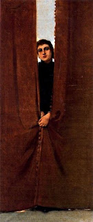 Dona entre cortines (Cecilio Pla Gallardo)