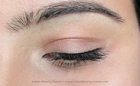 Simple Eye Makeup for work, Formal Eye Makeup, Makeup for office, Indian Eye Makeup, Tight Lining eyes, Rimmel Mascara, How to tightline, Eyeliner for Indian Eyes, Simple work friendly makeup