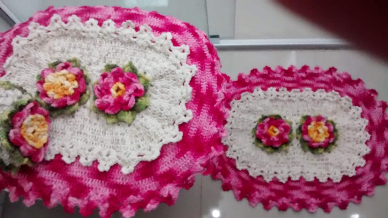 circulo, barroco, jogo de banheiro croche