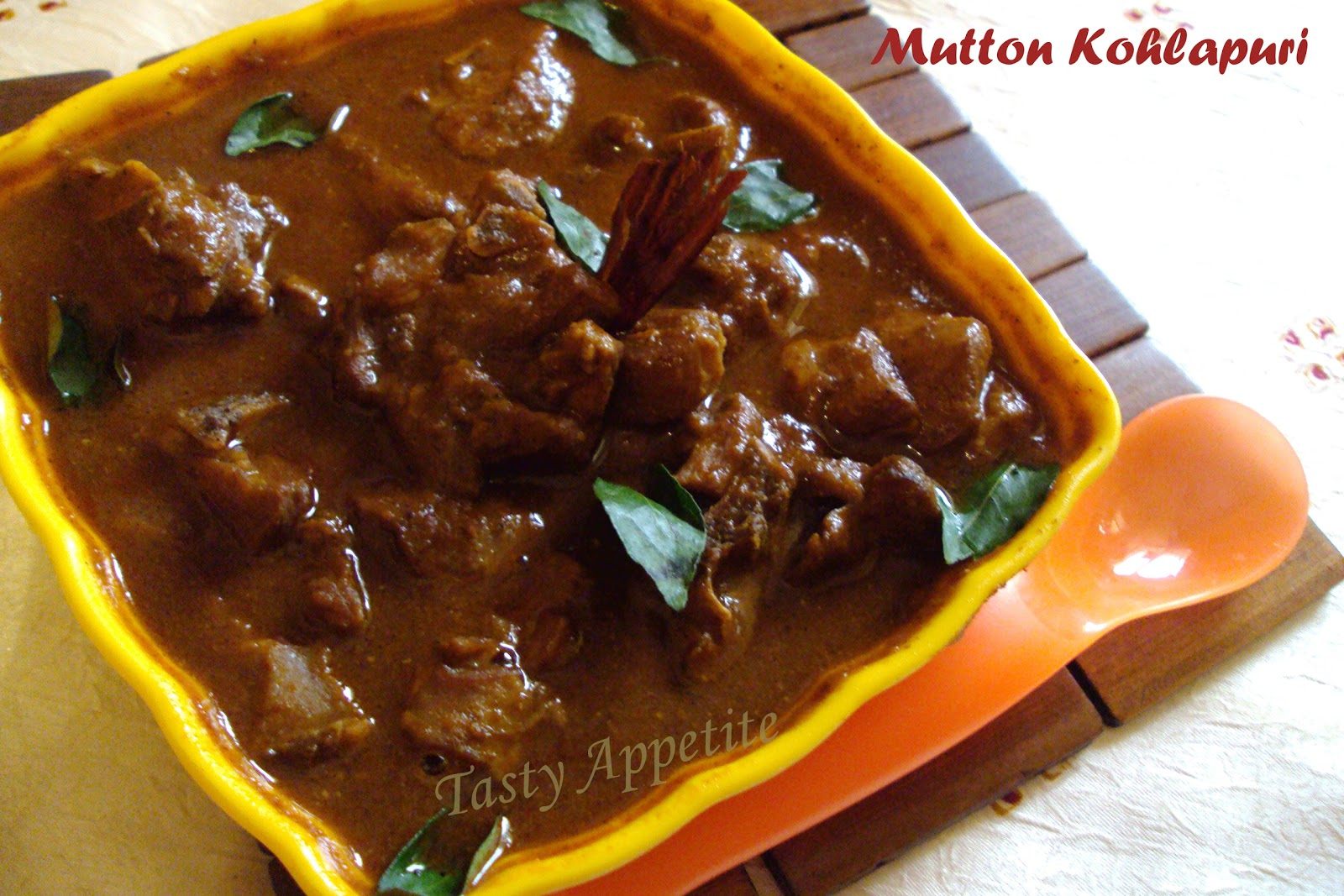 Kolhapuri mutton curry or lamb curry forumfinder Choice Image