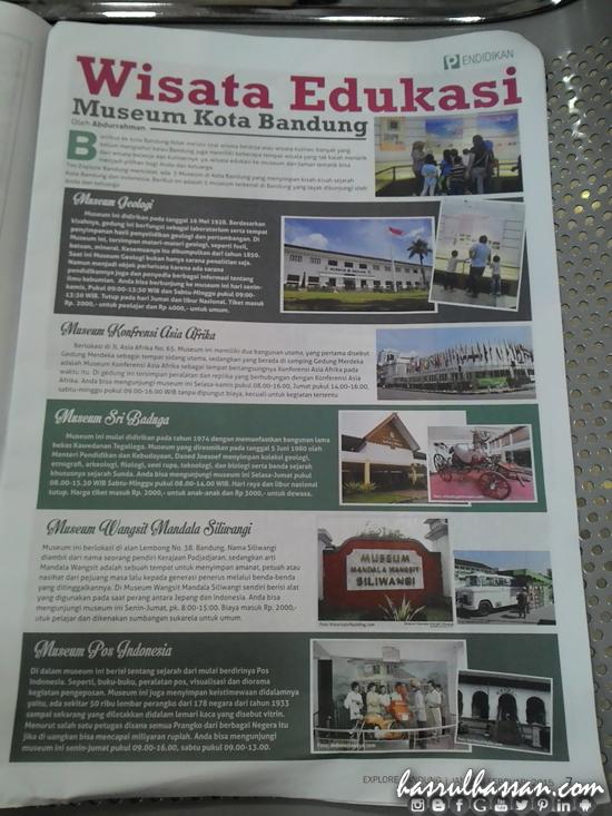 Muzium-Muzium (Museum) Kota Bandung Indonesia