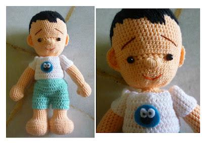 amigurumi crochet boy doll cute custom made Troy amazing results