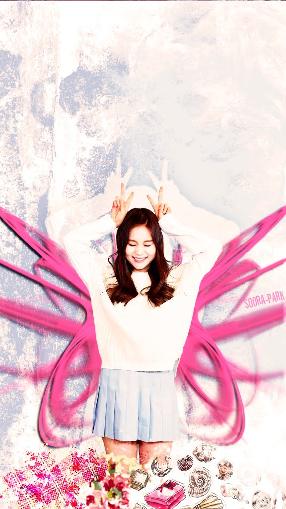 WALLSCREEN_Umji_Pink_Wings_by.Soora-Park