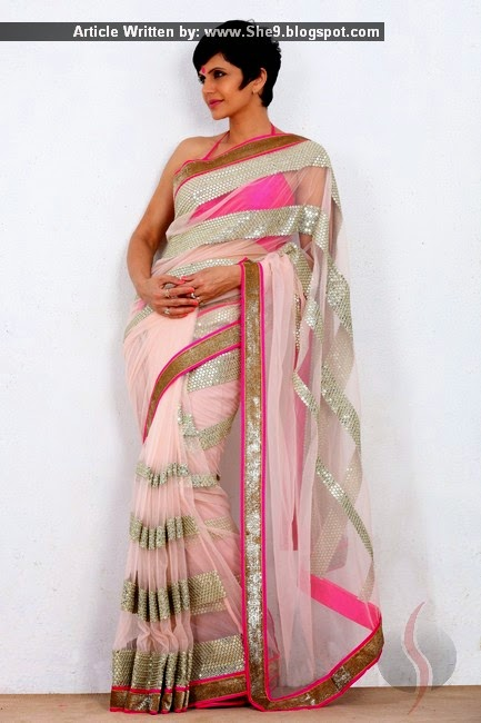 Mandira Bedi Sarees for Formal Wear 2015