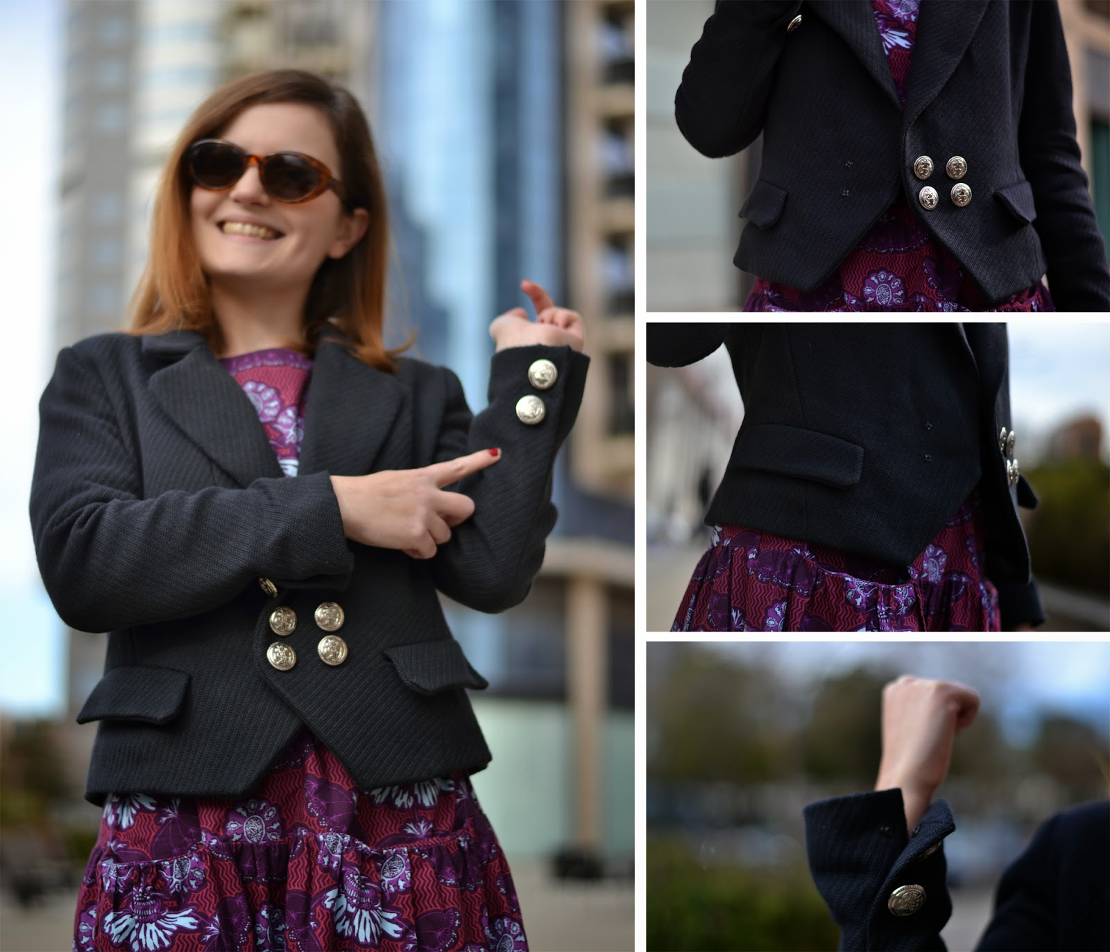 black jacket, black blazer, burda 131 11/2010, sailor style, classic jacket, wardrobe architect