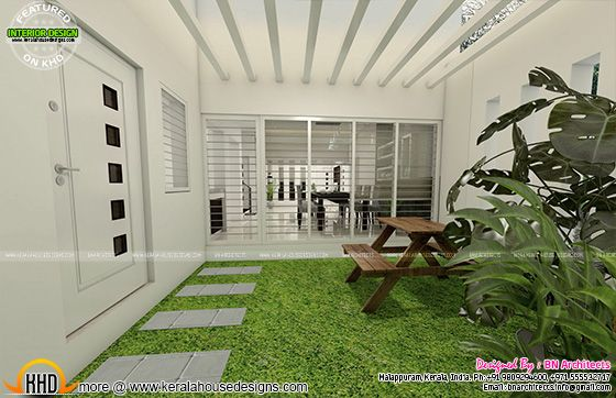 Internal courtyard design