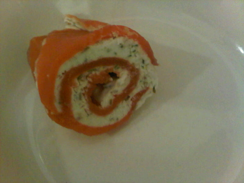 Smoked Salmon Roll up with Goat Cheese (inspired by Michael Smith )