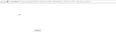 HTML5 Builder - Aplicación en funcionamiento: Página web
