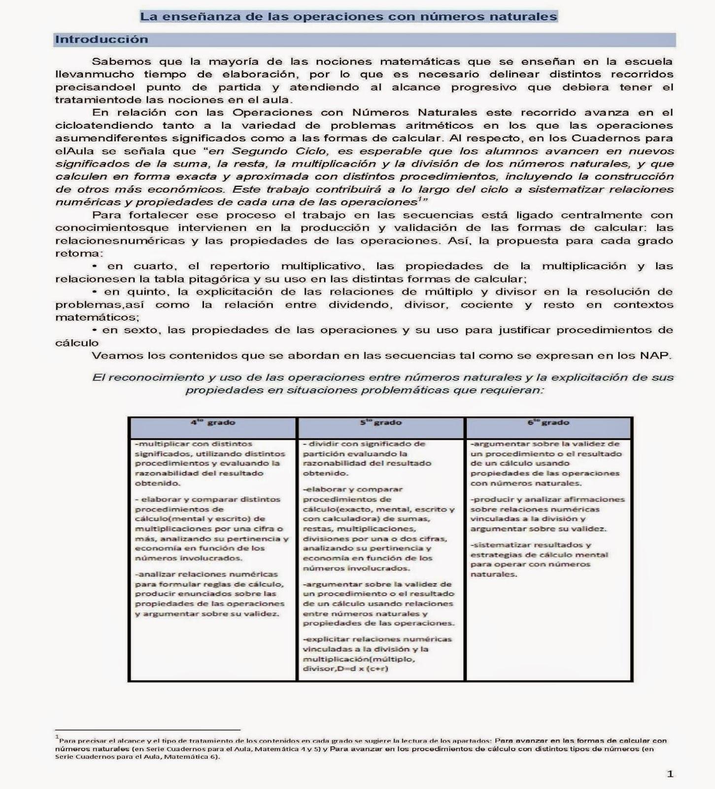 Alfabetización Inicial y Continua): Matemática 2do Ciclo - PROMEDU
