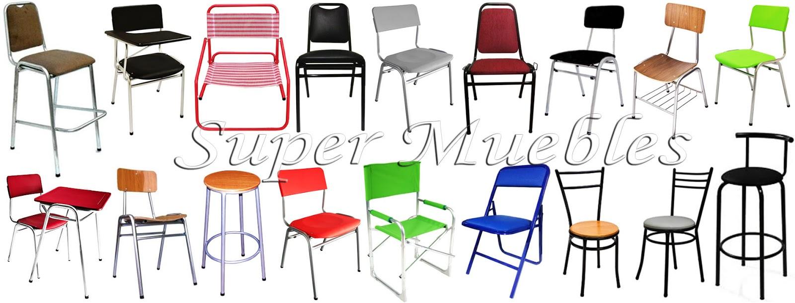Super muebles sillas apilables variedad de modelos for Sillas para bar economicas