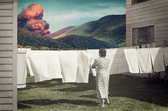 Joseba Elorza MiraRuido illustrations collages surreal vintage Routine