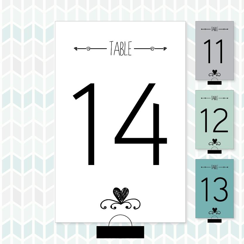 Larissa Kay Designs: Free Printable Modern Bridal Shower Table Numbers