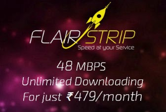 FlairStrip offering 48Mbps broadband in india @ Rs.479 per month with no FUP