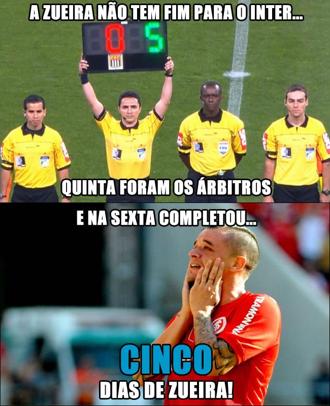 Humor - Meme Campeonato Brasileiro Brasileirão - Internacional Gremio 5x0 FuteAki.com.br