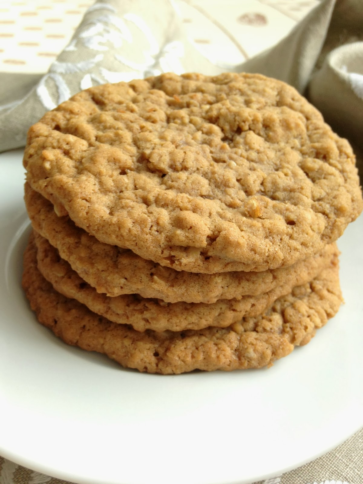 Nuts about food: Chewy cinnamon oatmeal cookies and musings