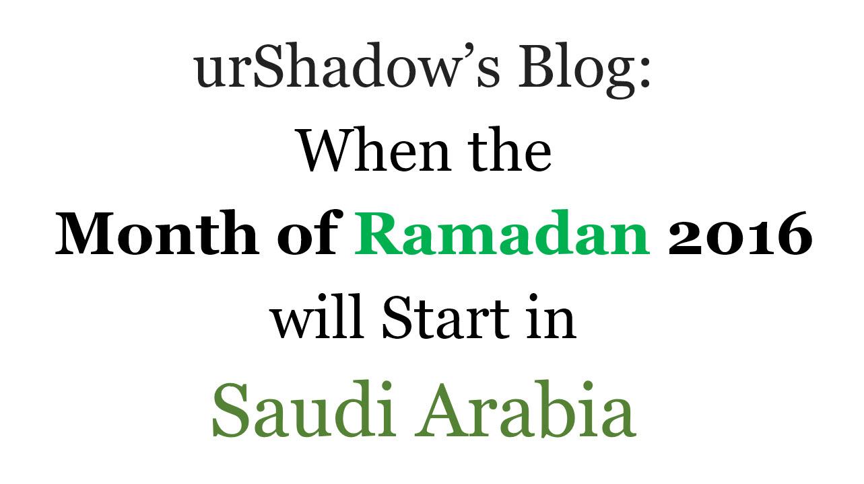 Ramazan 2016 calendar for Saudi Arabia | Taza Tarin