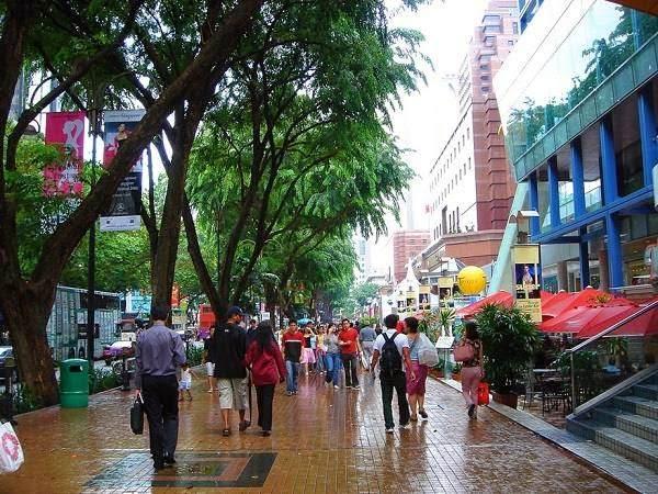 sudut jalan di orchard road singapura