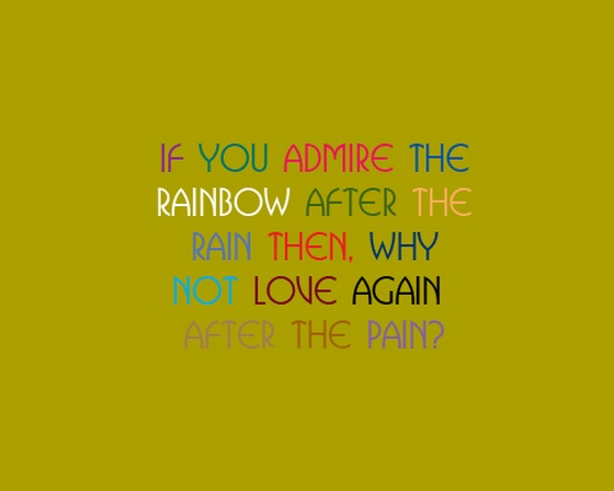 Quotes About Rain And Rainbows Quotesgram