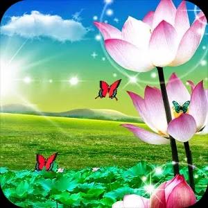 تطبيق خلفيات اندرويد الرائع Lotus Live Wallpaper for android