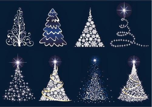 árboles de Navidad - Vector 1