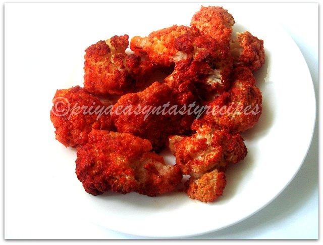 Priya's Versatile Recipes: Baked Tandoori Gobi