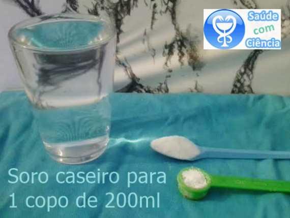 Soro caseiro: receita copo 200ml