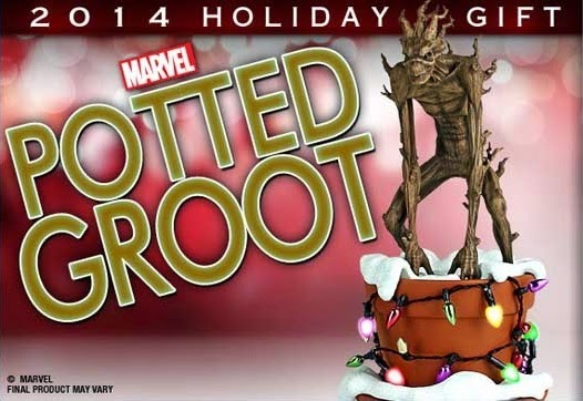 """Holiday"" Potted Groot Marvel's Guardians of the Galaxy Statue by Gentle Giant"